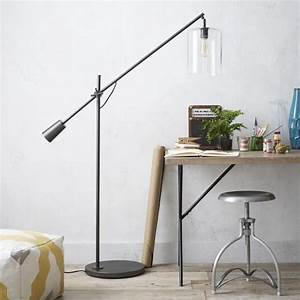 industrial style swing arm lamps love scandi With adjustable glass floor lamp west elm