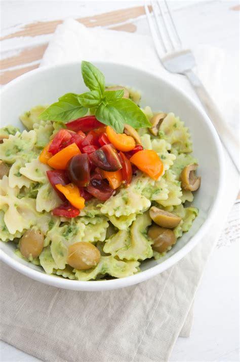 avocado basil pasta avocado basil cream pasta vegan elephantastic vegan