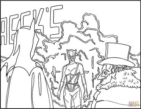 Batman Returns Scene Coloring Page