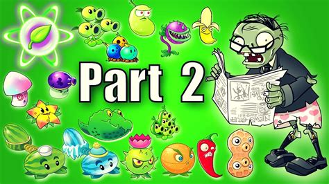 plants vs zombies modern plants vs zombies 2 all plants power up vs newspaper from modern day part 2