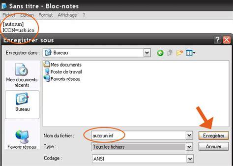 mettre une icone sur le bureau comment mettre une icône sur votre clé usb seven vista xp