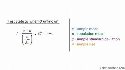 Test Formula Statistic Sample Hypothesis Examples