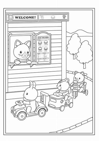 Coloring Calico Critters Pages Sylvanian Families Colouring