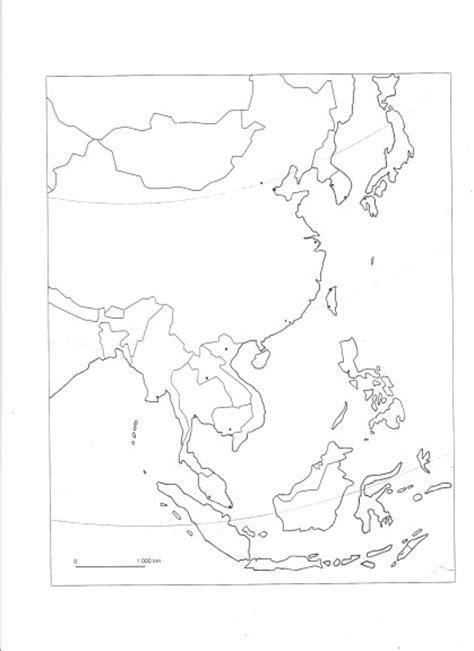 coloriage carte asie vierge  imprimer
