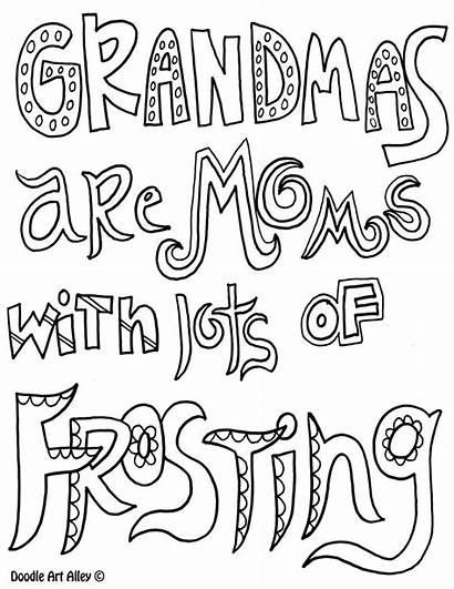 Coloring Grandma Mothers Quotes Printable Birthday Happy