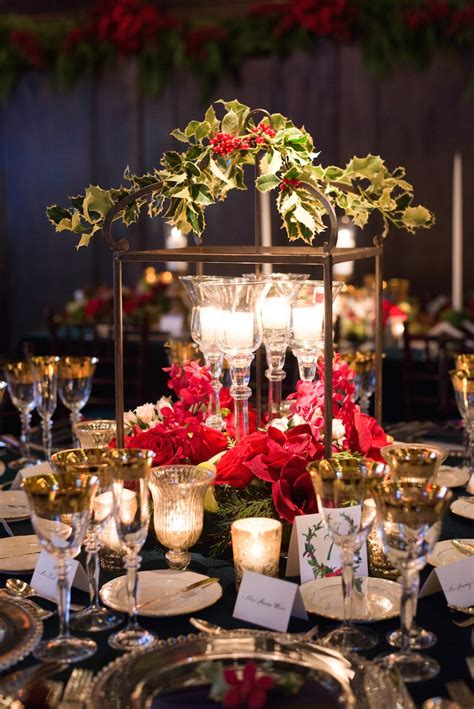 reception decor  christmas theme wedding