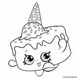 Coloring Pages Ice Cream Shopkins Season Shopkin Printable Disney Colouring Sheets Books Adults Info sketch template