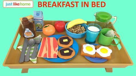 Just Like Home Breakfast In Bed Pretend Play Set  Kids