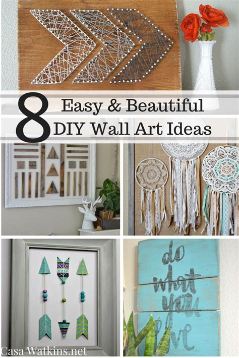 They feature different shapes, sizes, decorative accents and all of them are finished a wonderful wall decoration created from precious china plates in various sizes. 8 Easy and Beautiful DIY Wall Art Ideas - Casa Watkins Living
