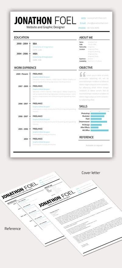 minimal resume cv template psd cv