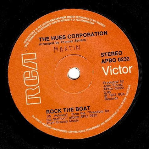 Rock The Boat Uk by The Hues Corporation Rock The Boat Vinyl Record 7 Inch Rca