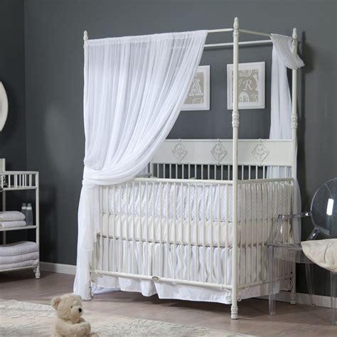 Bratt Decor Crib Distressed White by Bratt Decor Wrought Iron Indigo Convertible Canopy Crib