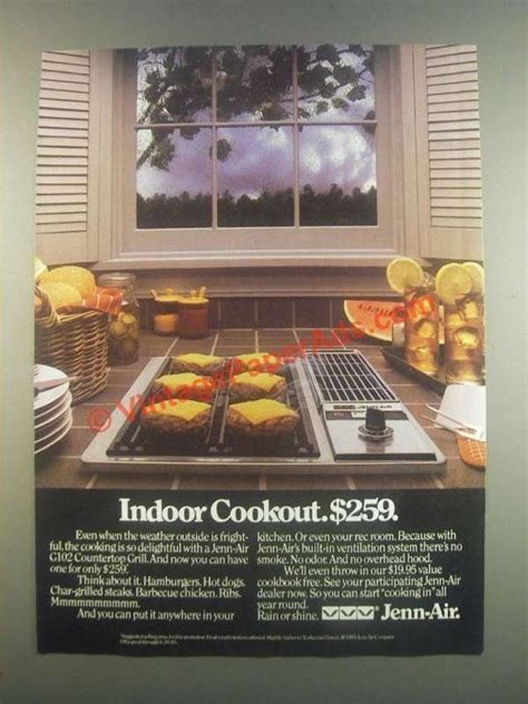 Jenn Air Countertop Grill by 1985 Jenn Air G102 Countertop Grill Ad Indoor Cookout