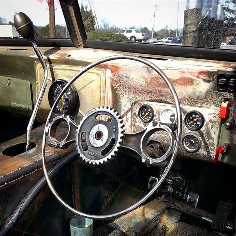 custom jeep steering wheel costom built steering wheel rat rod parts pinterest