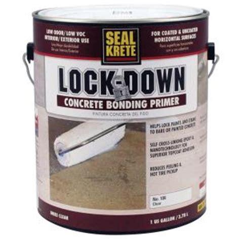 seal krete floor tex home depot seal krete lock 1 gal epoxy bonding floor primer