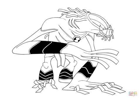 dibujo de feral de ben   colorear dibujos  colorear imprimir gratis