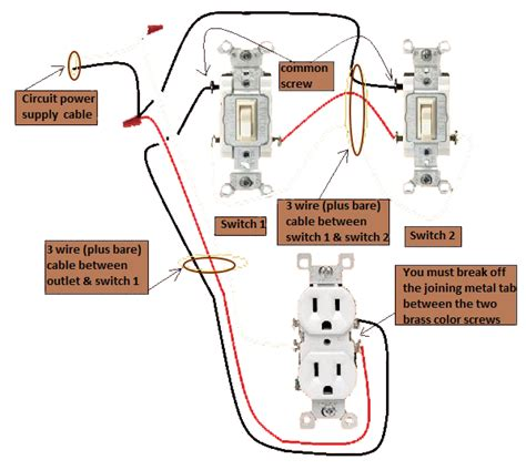 three way switch diagram with outlet efcaviation com