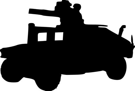 humvee clipart free vector graphic hummer military army truck free