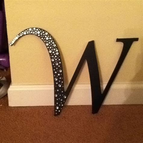 wooden letter  bling   decorate  shells