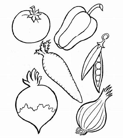 Vegetables Coloring Pages Fruits Momjunction