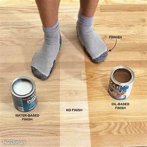 Tips for using water based varnish the family handyman for Oil based floor stain