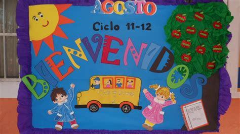 periodico mural de educacion inicial peri 243 dico mural del mes de agosto mural de bienvenida 1