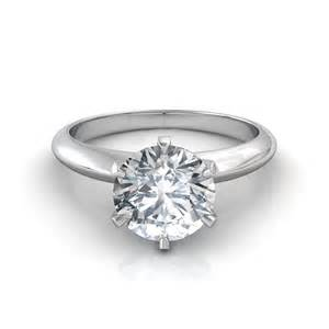 circular engagement rings brilliant cut solitaire engagement ring