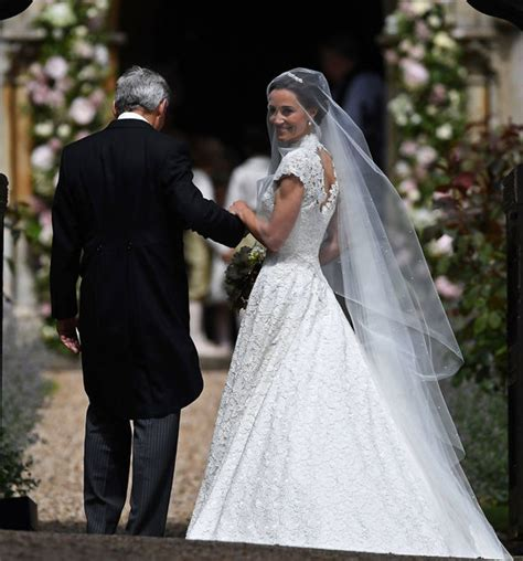 pippa middleton wedding lace wedding dress pictured