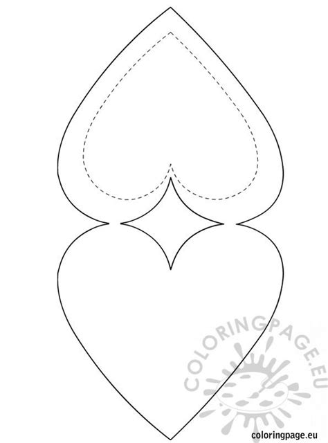 heart shaped card template coloring page