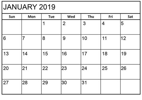 january  calendar printable html calendar