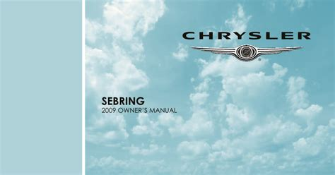 chrysler sebring owners manual  give