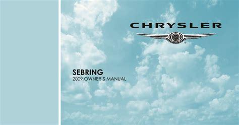 chrysler sebring owners manual  give