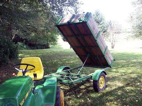 hydraulic dump trailer   capp   dump trailers utility trailer small garden tractor
