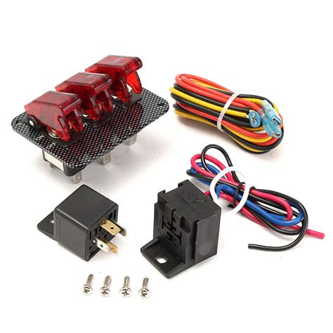 3x 12v switch car racing on aircraft type led