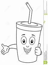 Soda Coloring Drink Paper Cartoon Cup Character Della Bevanda Coloritura Carattere Sveglio Carta sketch template