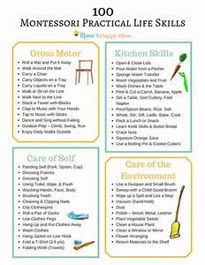 100+ Montessori Practical Life Skills - Mama's Happy Hive