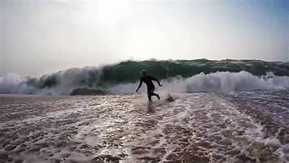 Surf Running Sand Society Surfer Ocean Hawaii
