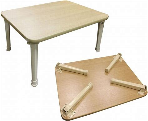 Coffee Table Natural Smalll Occasional Table Fold Away Legs Side Table Portable   eBay