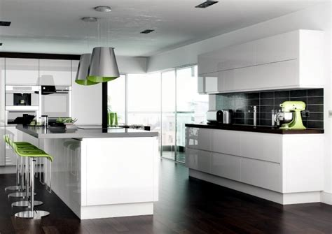 modern high gloss kitchen  white  dream kitchens