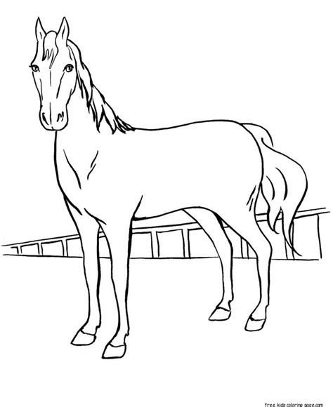 printable horse racing coloring sheets  kidsfree