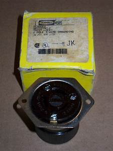 New Hubbell 4585 Flanged Receptacle Twist Lock 2 Pole 3