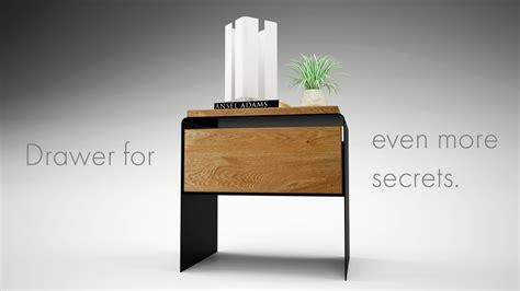 Nachttischle Aus Holz by Design Nachttisch Modern Weiss Schwarz Holz Metall Mystery