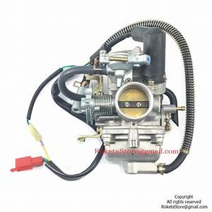 Pd30 Carburetor With Electric Choke Dual Bracket  U0026gt  Roketa