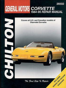 auto repair manual online 1999 chevrolet corvette free book repair manuals chilton repair manual chevrolet corvette 1984 96 28502 ebay