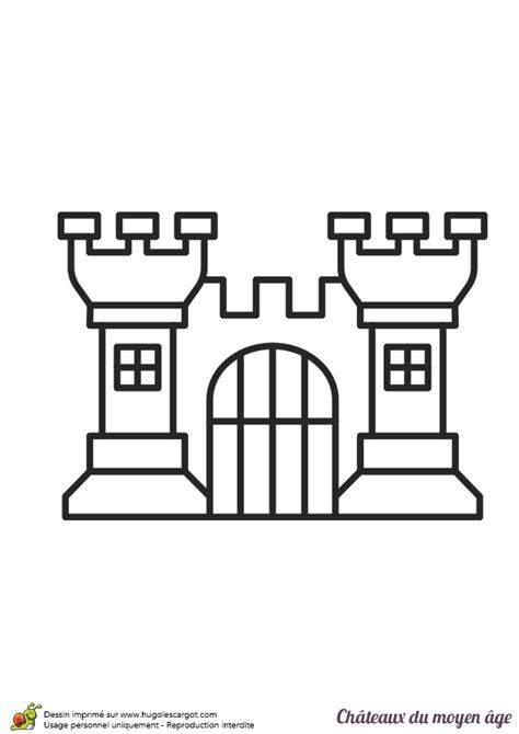jeu de cuisine restaurant dessin facile à colorier d un château du moyen âge