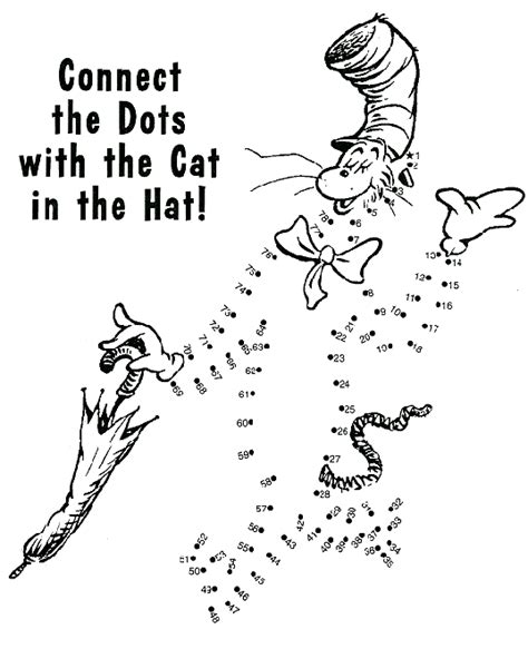 dr seuss connect the dots worksheets connect the dots