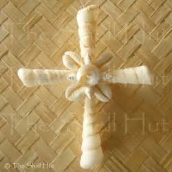 seashell crucifix wall hanging decoration sea shell cross christmas ornament ebay