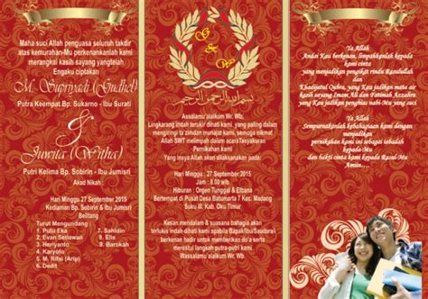 desain undangan pernikahan lipat  kata kata mutiara