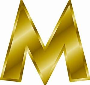 Free gold letter m clipart free clipart graphics images for Gold letter m