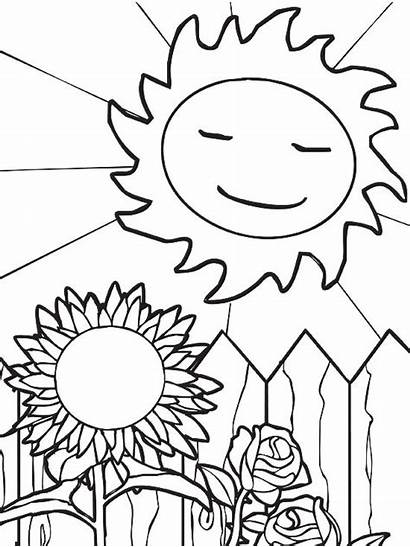 Coloring Summer Pages Sun Printable Parents Sheets